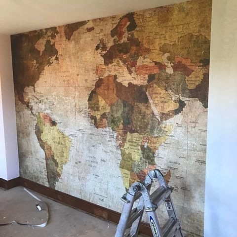 World Map Wall Covering